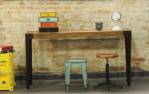 Ideias criativas para reciclar m veis decorando casas - Como hacer una mesa estilo industrial ...