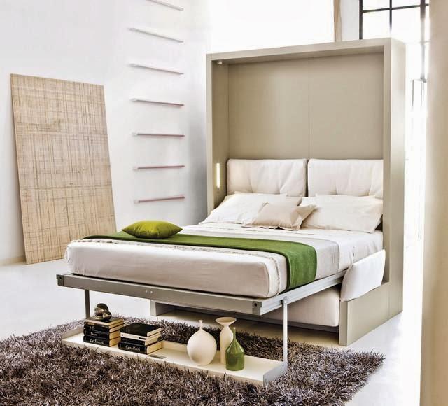 Cama embutida ganhe espa o e estilo decorando casas - Mesa que se levanta ...
