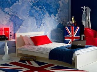 Decoração-de-quarto-com-o-tema-Londres