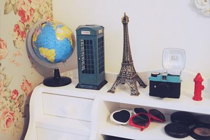 Decoração de quarto com o tema Paris
