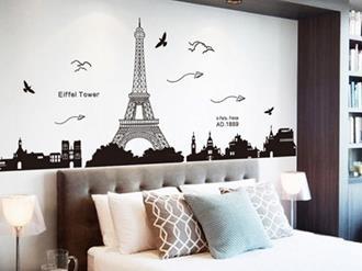 Decoração-de-quarto-com-o-tema-Paris