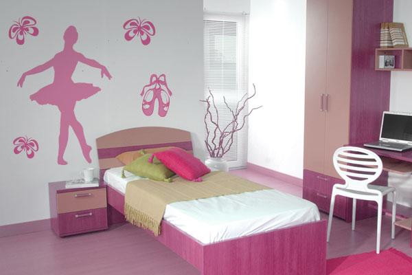 Decoração de quarto com tema bailarina