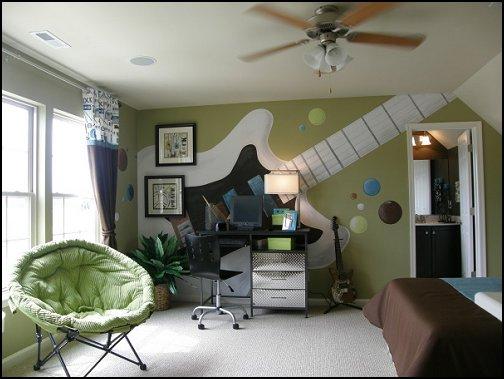 Decoração de quarto com tema musical