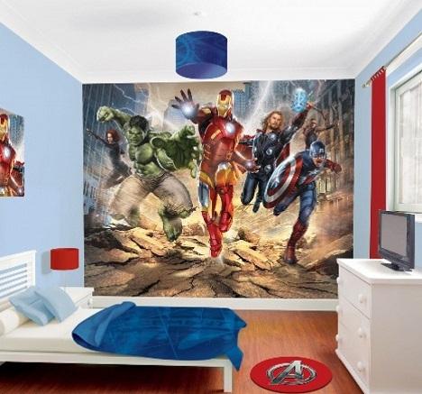 decoração de super-heróis para quartos