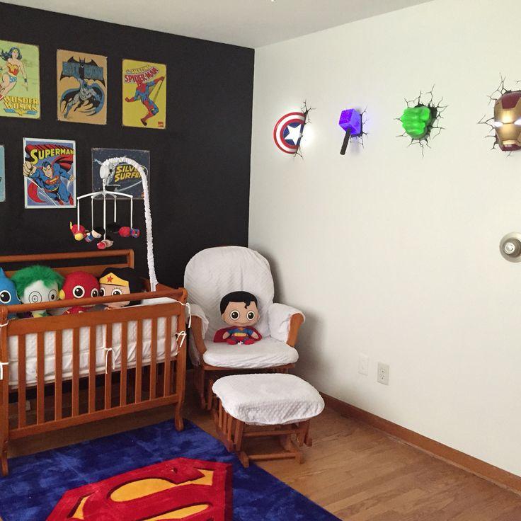 Decora o de super her is para quartos decorando casas for Boys marvel bedroom ideas
