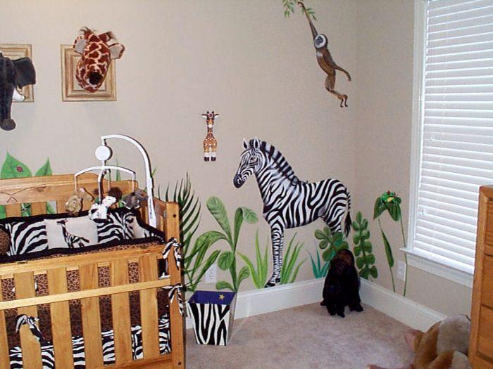 Decoraç u00e3o do quarto de beb u00ea masculino com tema safari Decorando Casas -> Decoração Para Quarto De Bebe Masculino Safari