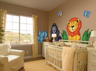 Decoração-do-quarto-de-bebê-masculino-com-tema-safari