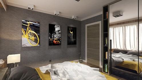 Decoração do quarto masculino vintage