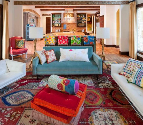 Decoracao Sala Hippie ~ Decoração para sala no estilo hippie  Decorando Casas