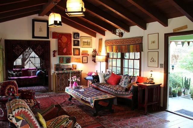 Decoração para sala no estilo hippie
