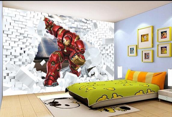 Papel de parede de superheróis  Decorando Casas