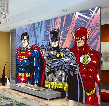 Papel de parede de super her is decorando casas - Papel pared comic ...