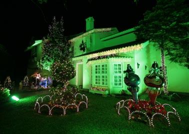 Decoração de natal para fachadas de casas
