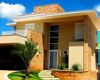 Fachadas de casas com tijolo a vista