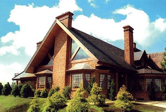 Fachadas de casas com tijolo a vista decorando casas - Modelos de casas rusticas ...