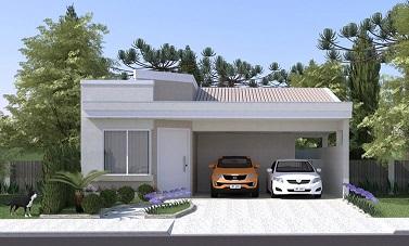 Fachadas de casas pequenas com platibanda decorando casas for Ideas para fachadas de casas pequenas