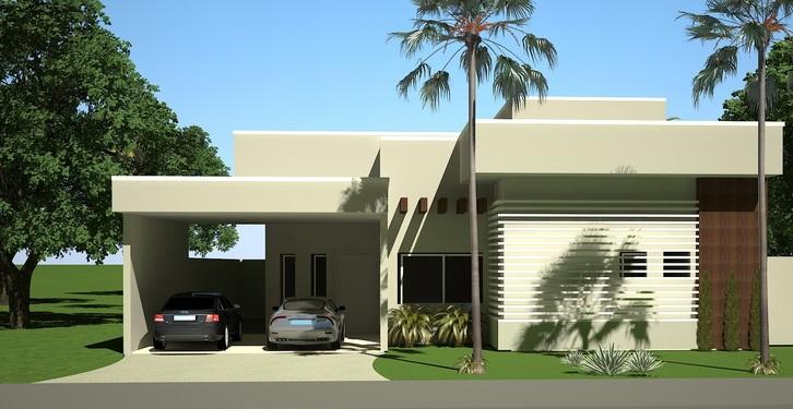 Top Fachadas de casas pequenas com platibanda | Decorando Casas XO12