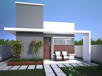 Fachadas de casas pequenas com platibanda decorando casas for Cores modernas para fachadas de casas 2016