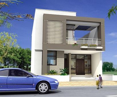 Fachadas de casas pequenas duplex decorando casas for Free architectural design for home in india online
