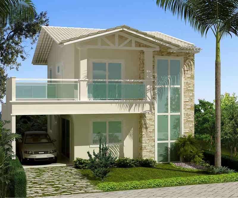 Fachadas de casas pequenas duplex decorando casas for Casas duplex modernas