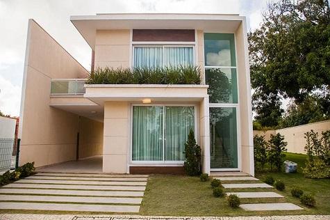 Fachadas de casas pequenas duplex