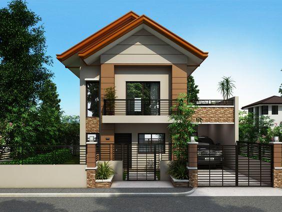 Fachadas de casas pequenas duplex decorando casas