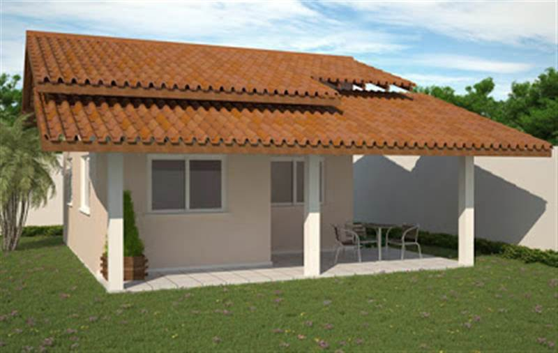 Fachadas de casas populares com reas decorando casas for Casas pequenas con fachadas bonitas