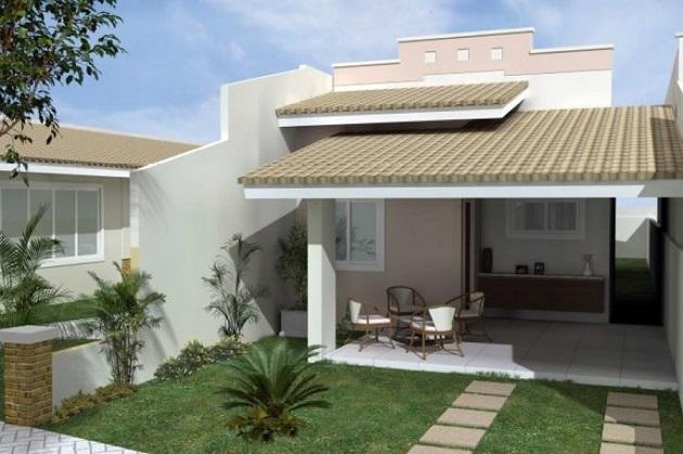 Fachadas de casas simples com garagem decorando casas for Fachadas para residencias