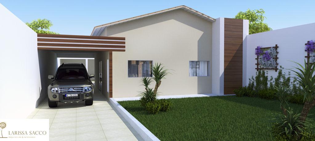 Fachadas de casas simples com garagem decorando casas - Reforma de casas ...