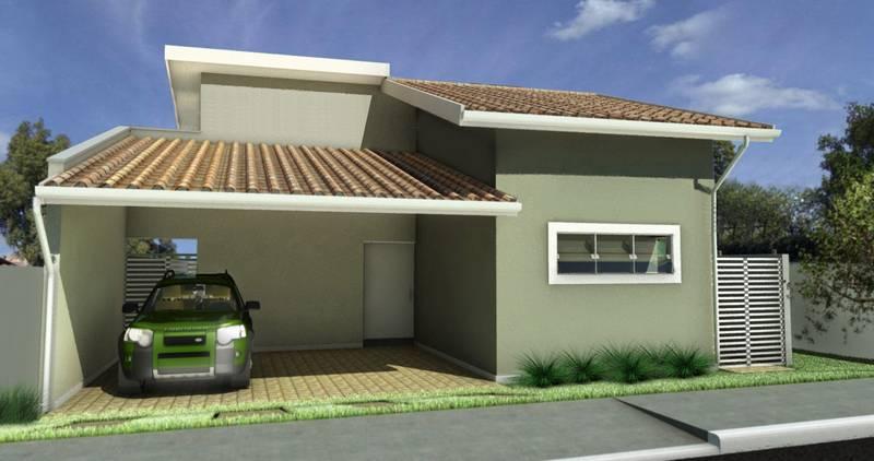 Fachadas de casas simples com garagem decorando casas for Modelos de casas fachadas fotos