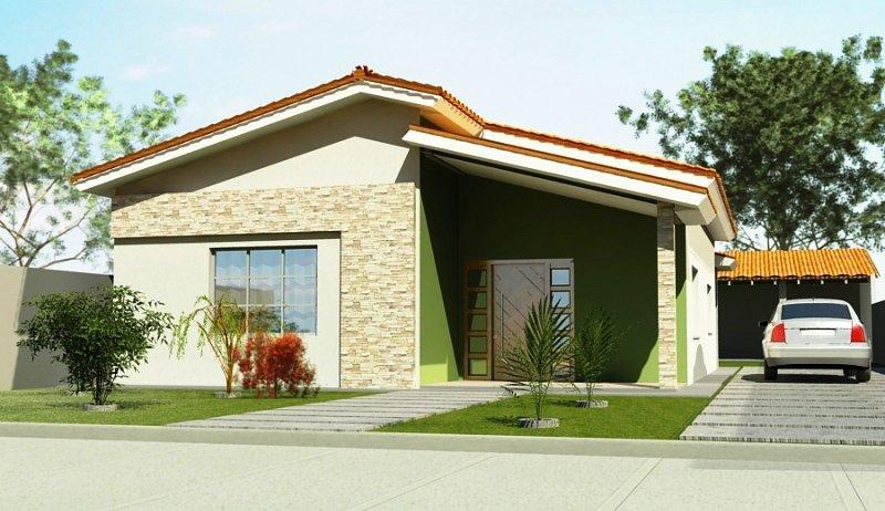 Fachadas de casas simples com garagem