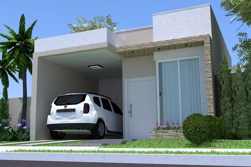 Fachadas De Casas Simples Com Garagem Decorando Casas