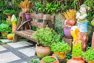 Objetos de decora??o para jardim Decorando Casas