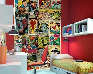 Adesivos de parede infantil super-heróis