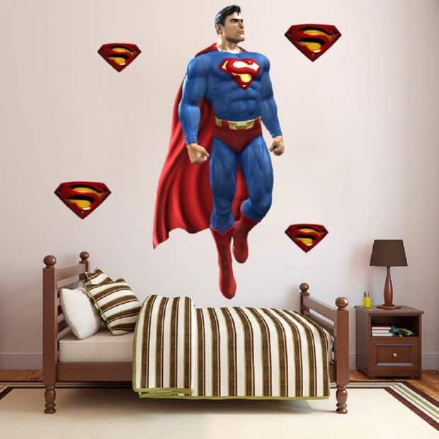 Adesivos de parede infantil super heróis