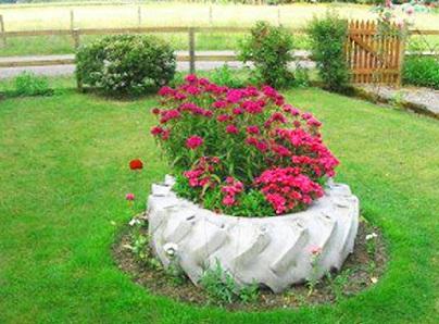 Como decorar meu jardim com reciclagem Decorando Casas