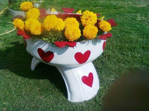 ideias para decorar meu jardim:Como decorar meu jardim com reciclagem