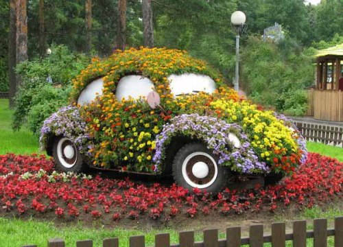 ideias para decorar meu jardim:Creative Flower Garden Ideas