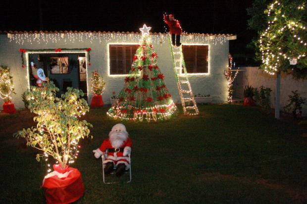 Como decorar o jardim para o natal  Decorando Casas