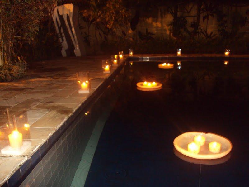 Decora o de ano novo para piscina decorando casas - Velas para piscinas ...