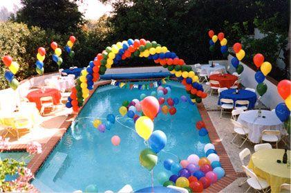 Decora o de ano novo para piscina decorando casas - Cumpleanos en piscina ...
