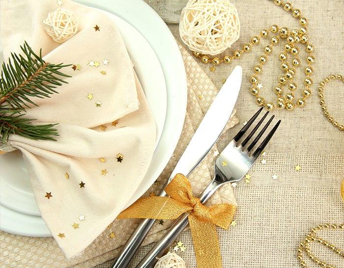 Enfeites de ano novo para mesa