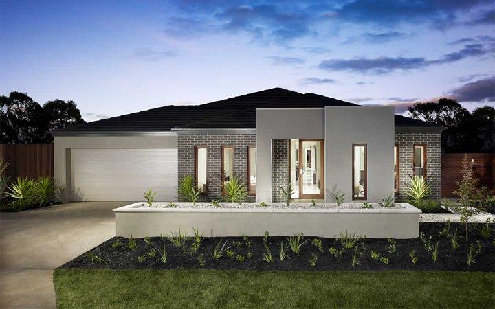 Fachadas de casas com telhado misto