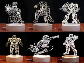 luminarias-3d-de-super-herois