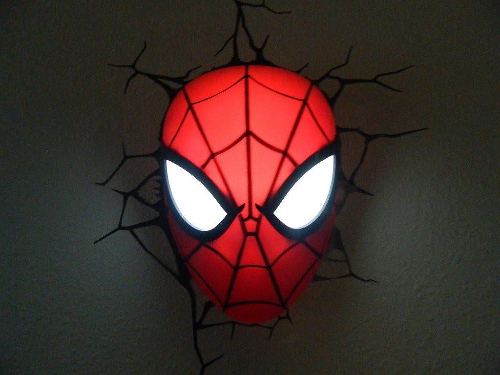 Luminária do Homem Aranha