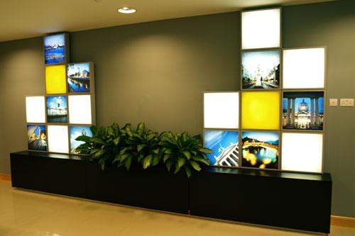 decoração com lightboxes