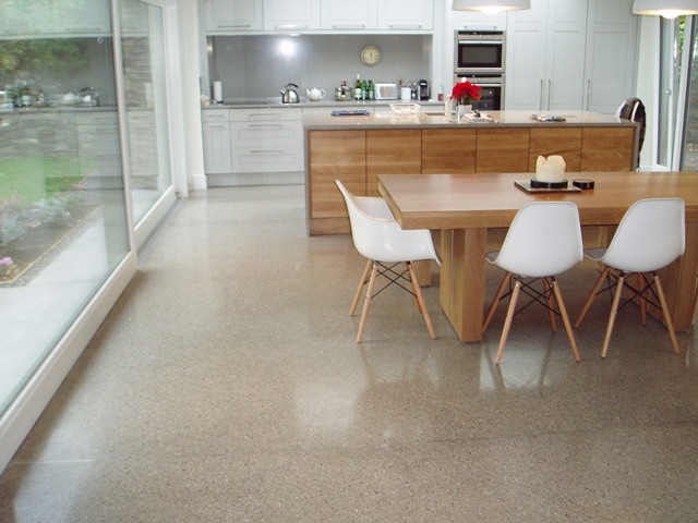 polished concrete floor kitchen piso de cimento queimado decorando casas 4301