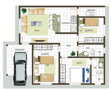 Plantas-de-casas-com-3-quartos-simples
