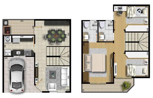 Plantas de casas 2 andares com varanda