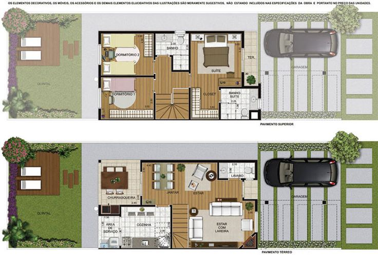 Plantas De Casas Modernas De 2 Andares Decorando Casas